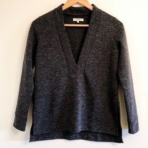 Madewell Sweater Deep V-Neck Charcoal Gray XS